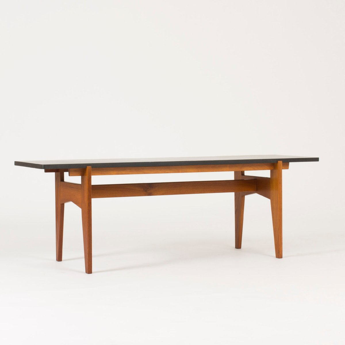 Teak And Black Marble Coffee Table By Hans-Agne Jakobsson