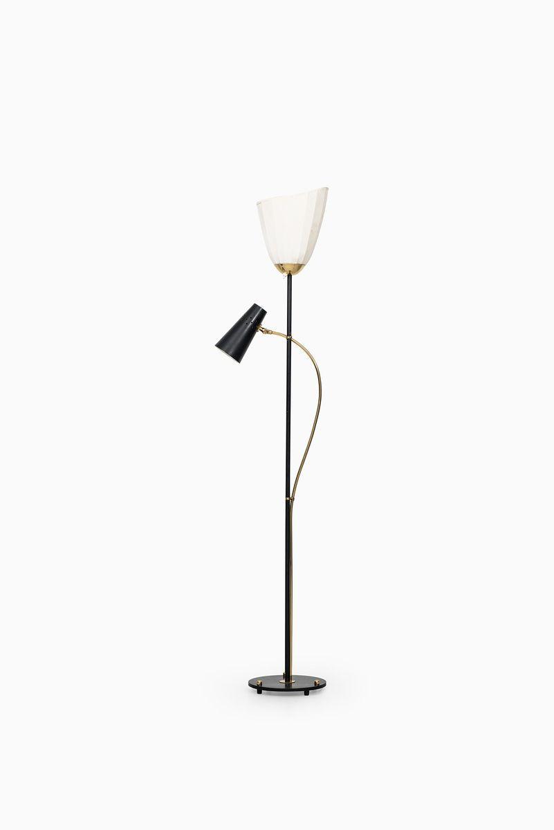 Schwedische Mid-Century Stehlampen, 1950er, 2er Set