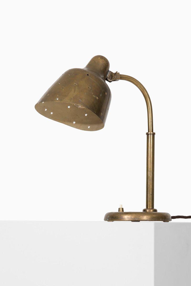 Mid-Century Messing Tischlampe, 1950er