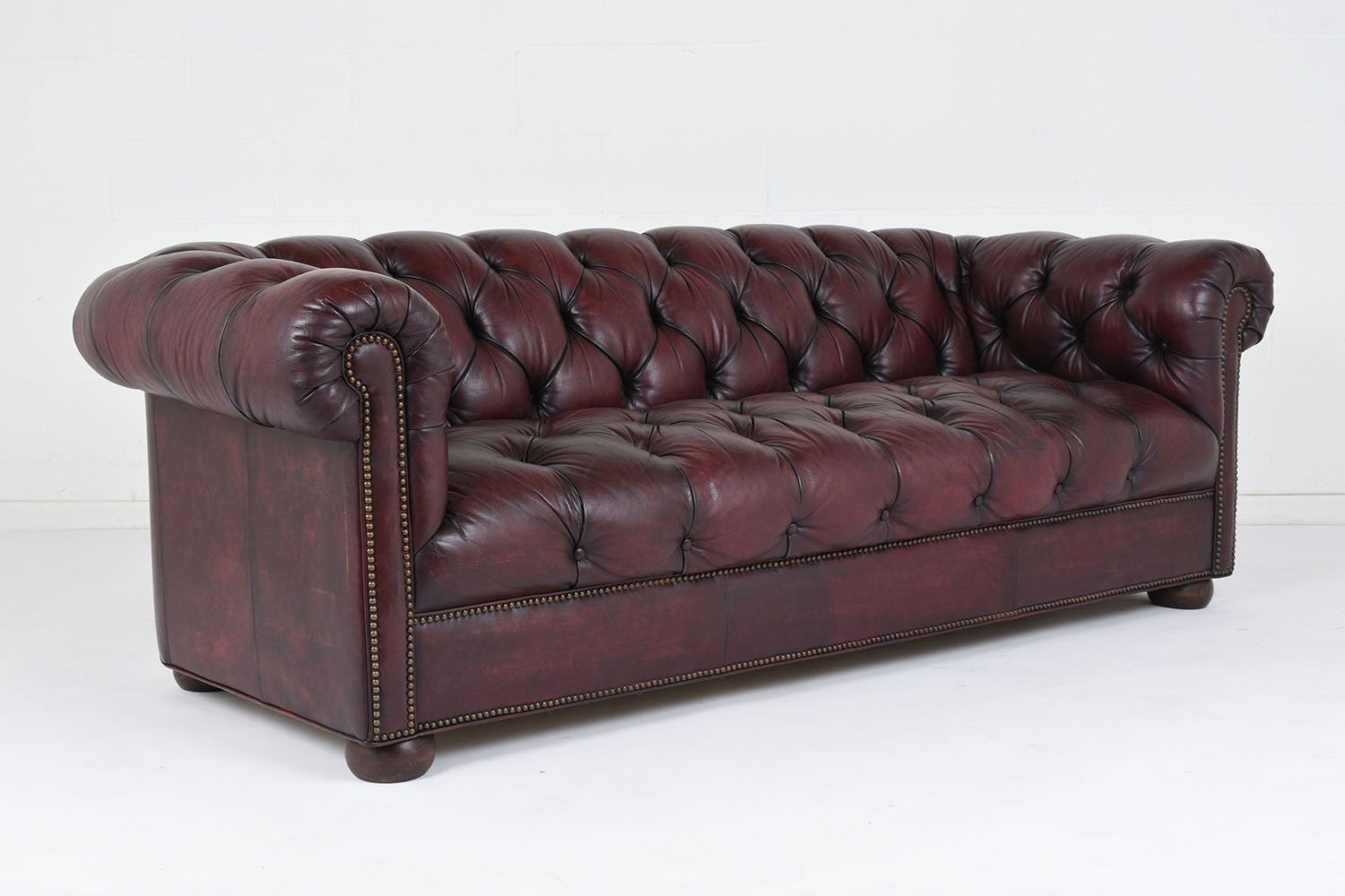 leather tufted sofa sale vintage tufted leather sofa 1970s for at pamono 6896