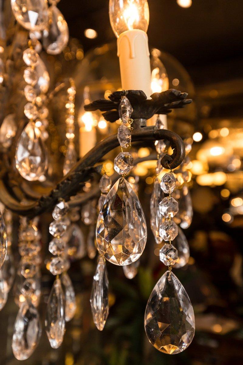 chandelier vintage en bronze france en vente sur pamono. Black Bedroom Furniture Sets. Home Design Ideas
