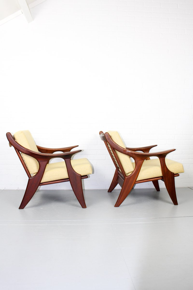 kleine sessel von de ster gelderland 1950er 2er set bei pamono kaufen. Black Bedroom Furniture Sets. Home Design Ideas