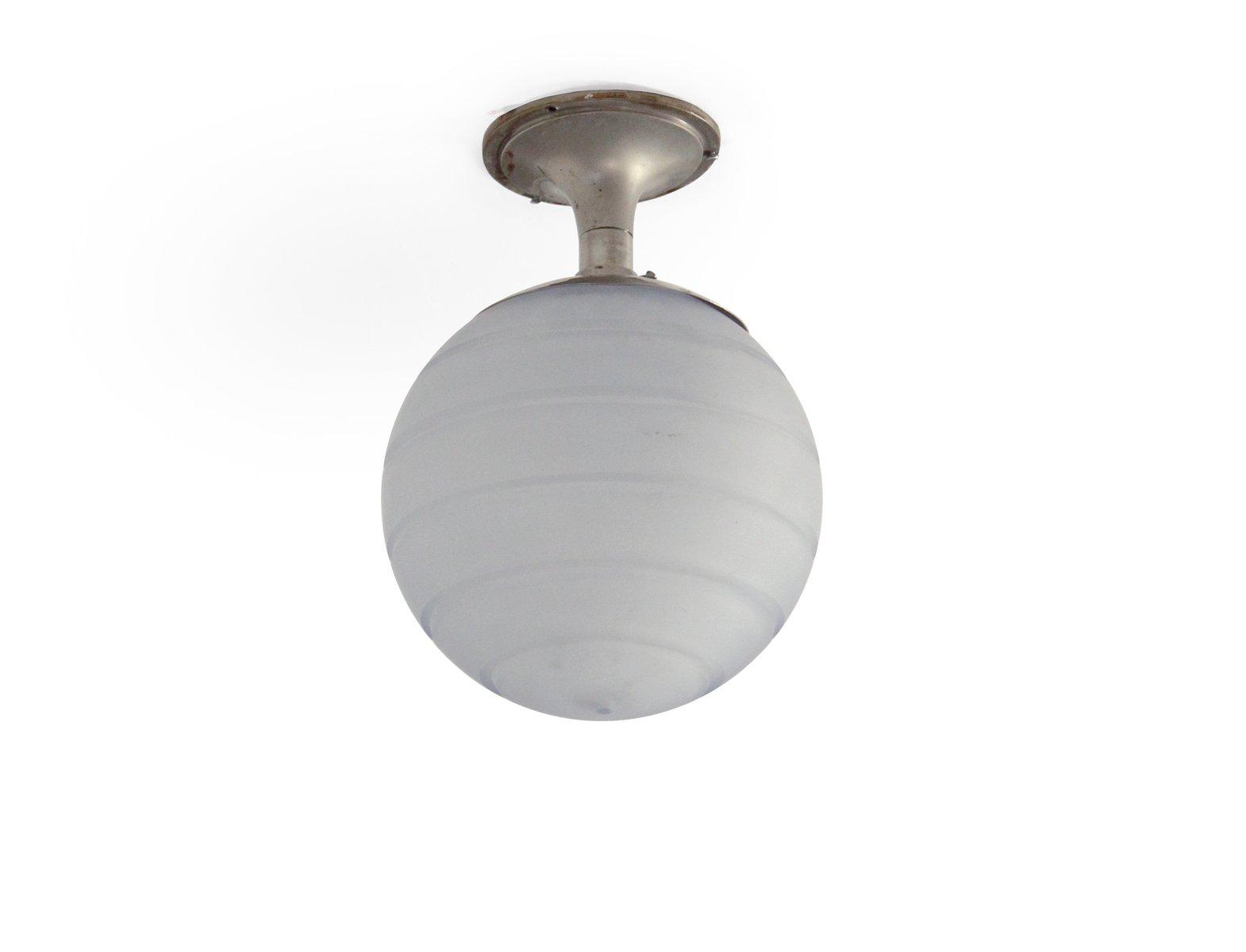 Mid-Century Glas Flurlampe von Orrefors, 1950er