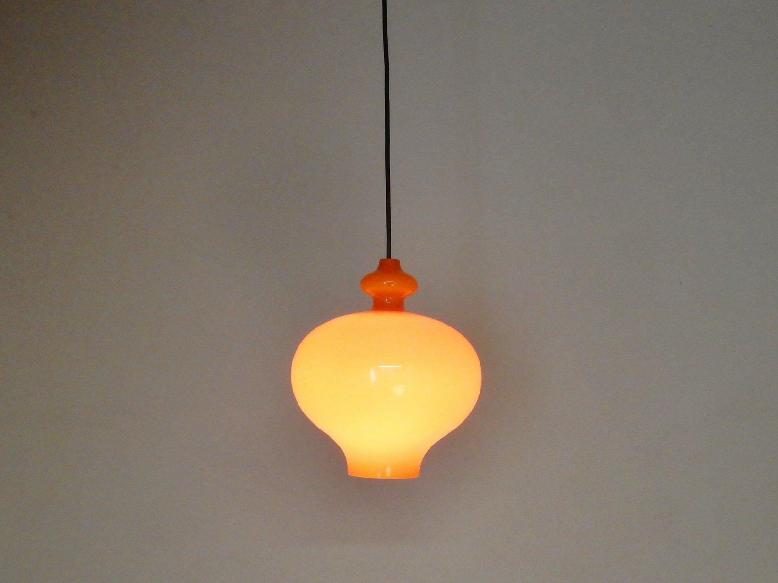 Orange glass pendant lights by hans agne jakobsson 1960s set of 2 129000 aloadofball Gallery