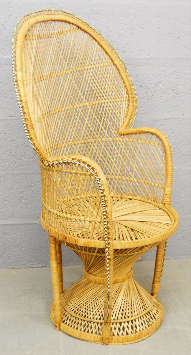 Astonishing Mid Century Wicker Peacock Chair 1970S Gmtry Best Dining Table And Chair Ideas Images Gmtryco
