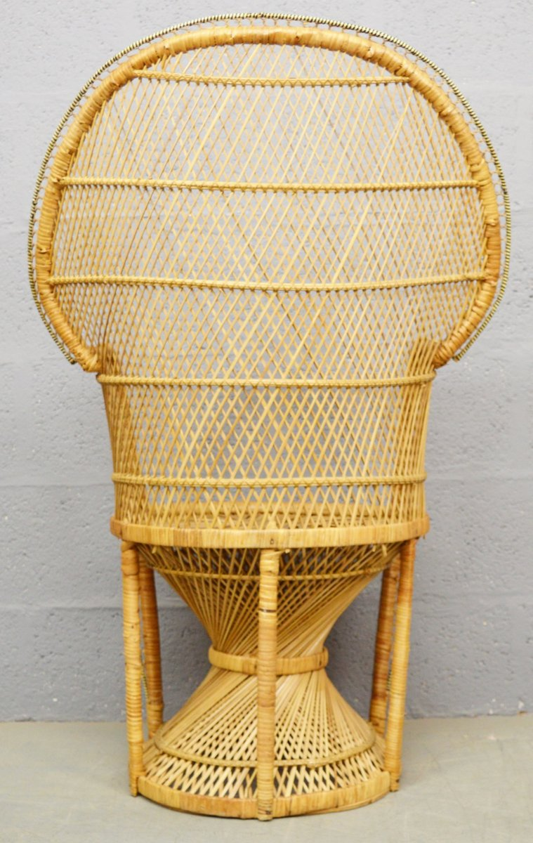 Outstanding Mid Century Wicker Peacock Chair 1970S Gmtry Best Dining Table And Chair Ideas Images Gmtryco