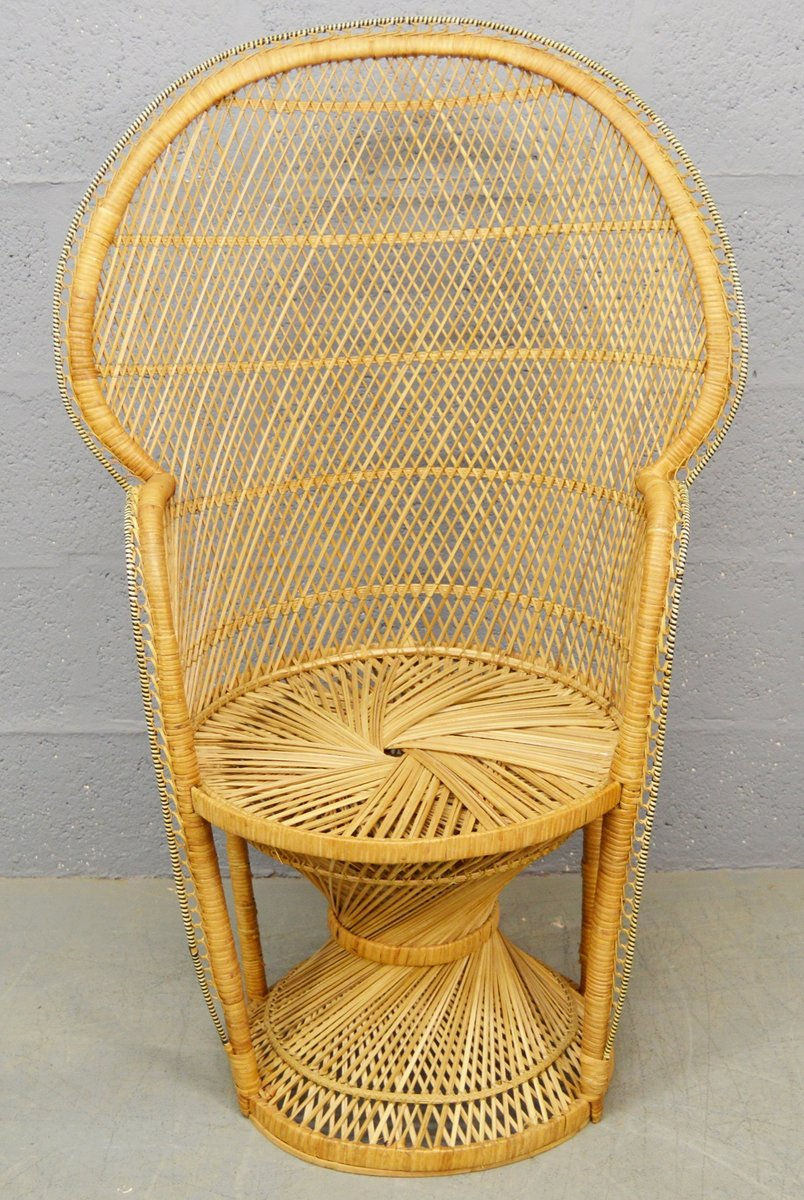 Excellent Mid Century Wicker Peacock Chair 1970S Gmtry Best Dining Table And Chair Ideas Images Gmtryco