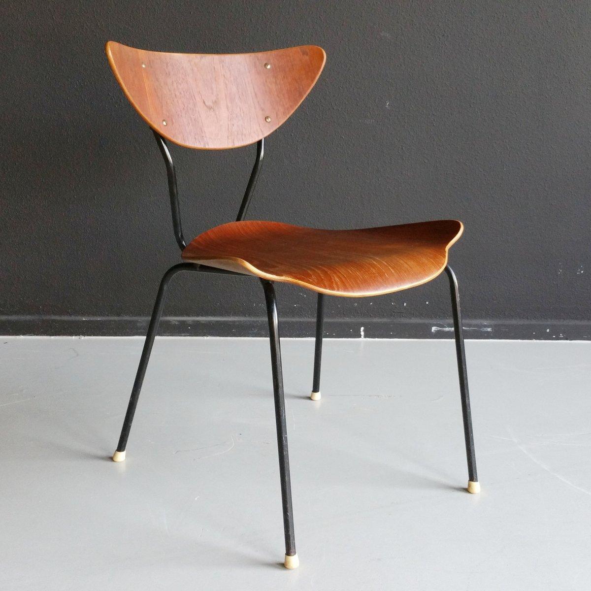 Mid century stuhl aus teak schichtholz 1950er bei pamono kaufen - Mid century stuhl ...