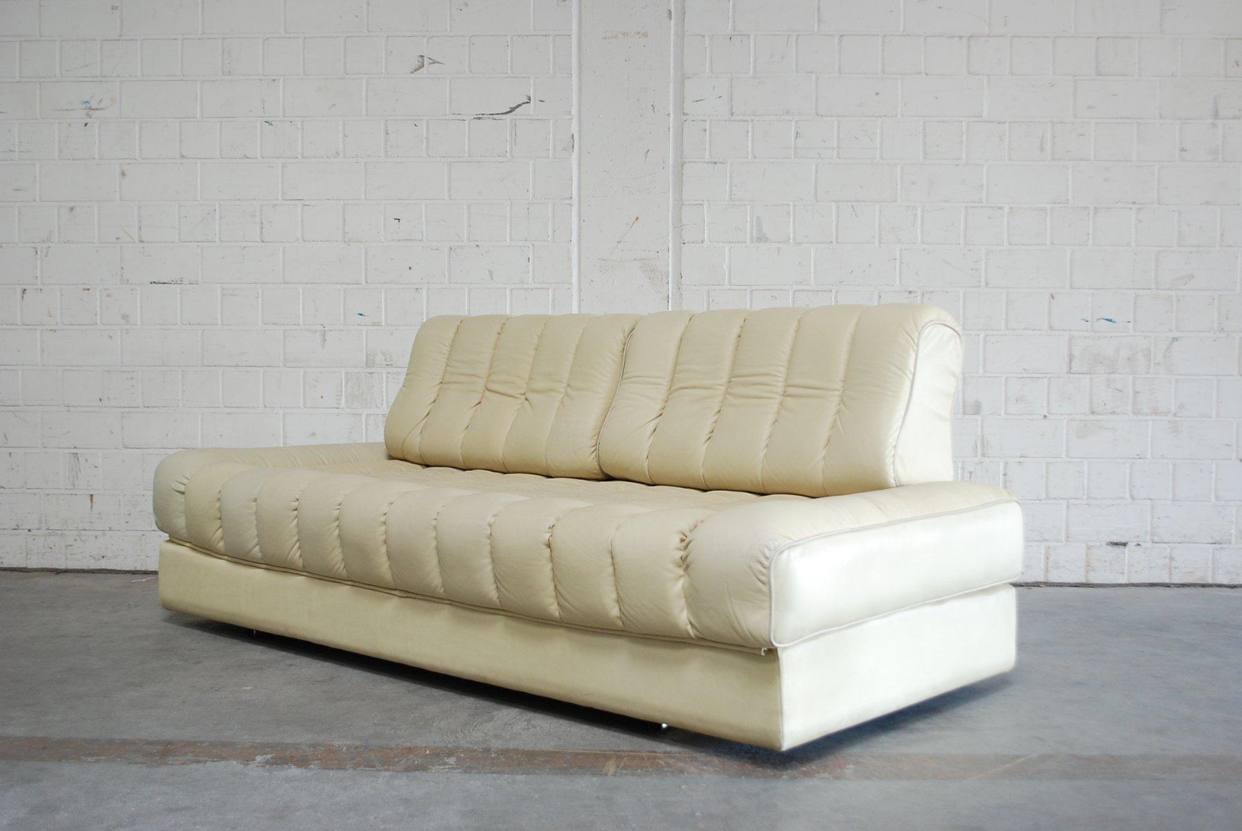 vintage ds 85 schlafsofa aus weichem leder von de sede bei pamono kaufen. Black Bedroom Furniture Sets. Home Design Ideas