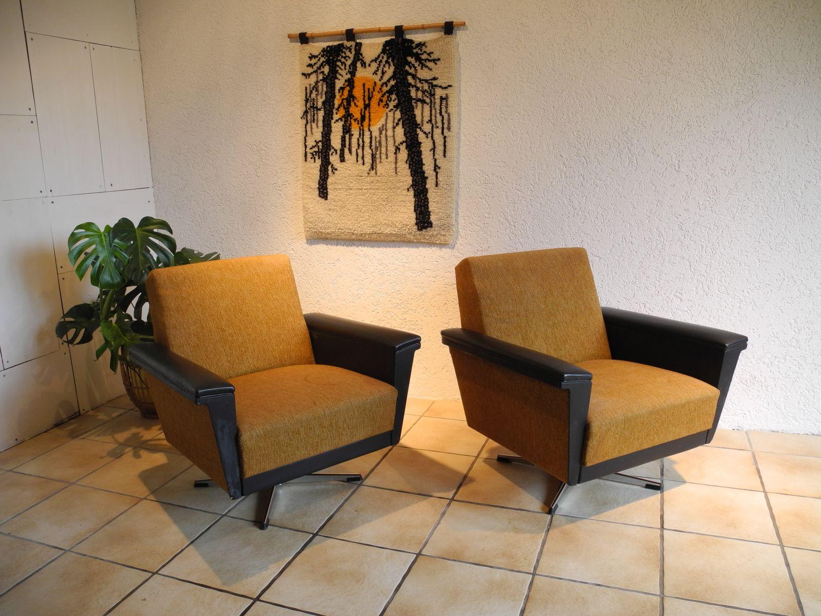 gro e sessel 1960er 2er set bei pamono kaufen. Black Bedroom Furniture Sets. Home Design Ideas