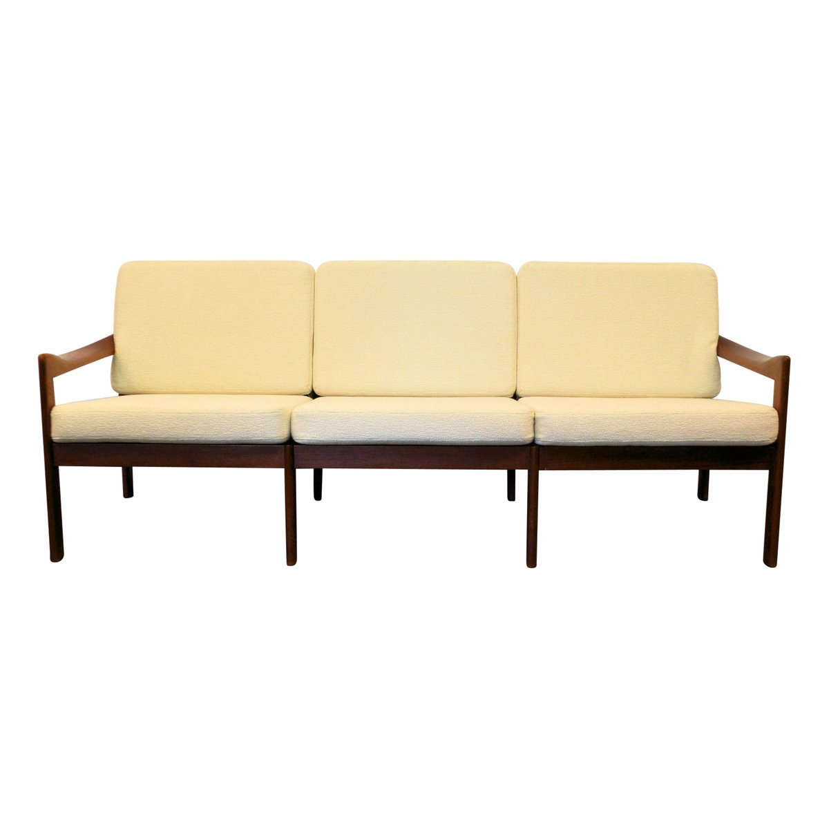 Dänisches Vintage Teak 3-Sitzer Sofa von Illum Wikkelso für Niels Eile...