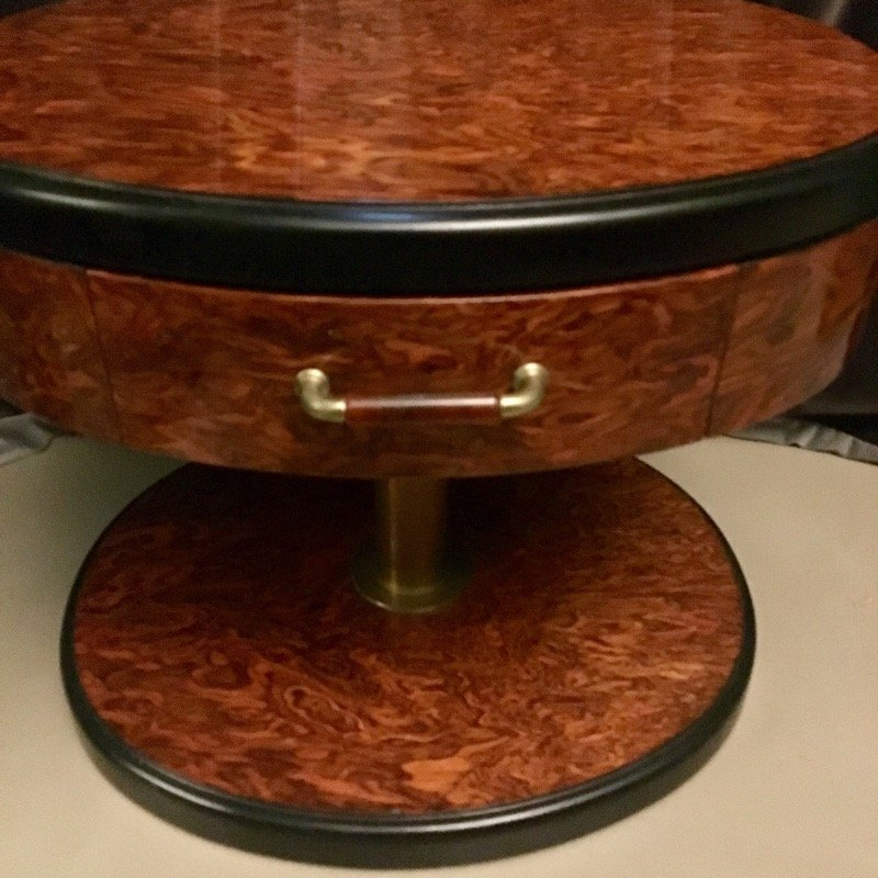 Vintage wurzelholz nachttische 2er set bei pamono kaufen for Vintage nachttische