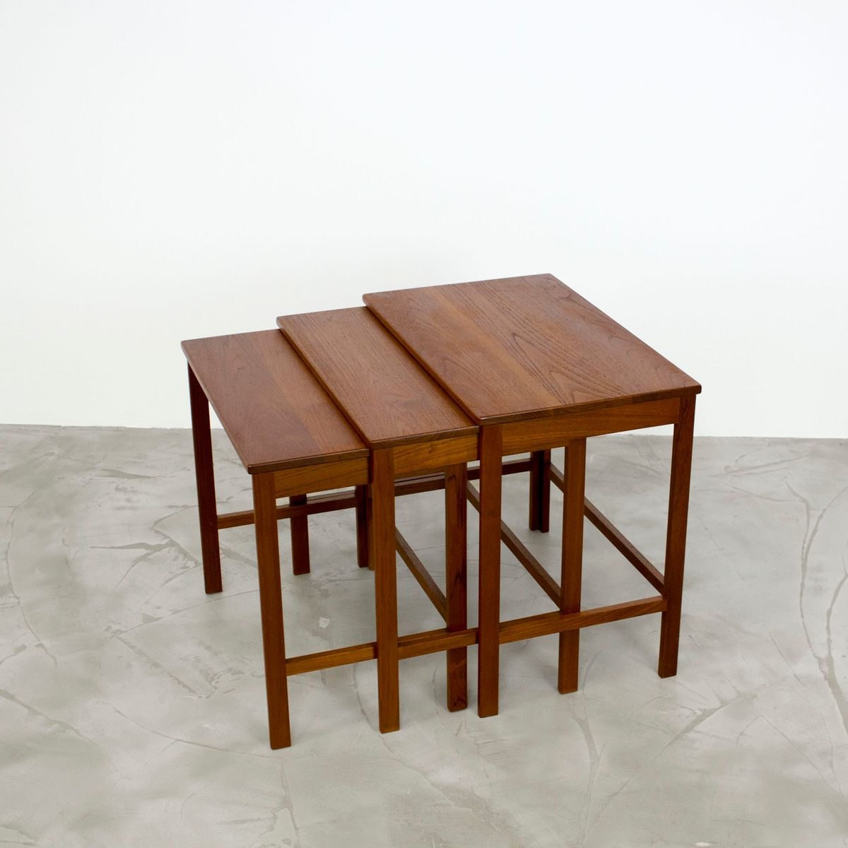 Danish Modern Teak Nesting Tables By Peter Hvidt Orla Mølgaard Nielsen For France Søn 1960s