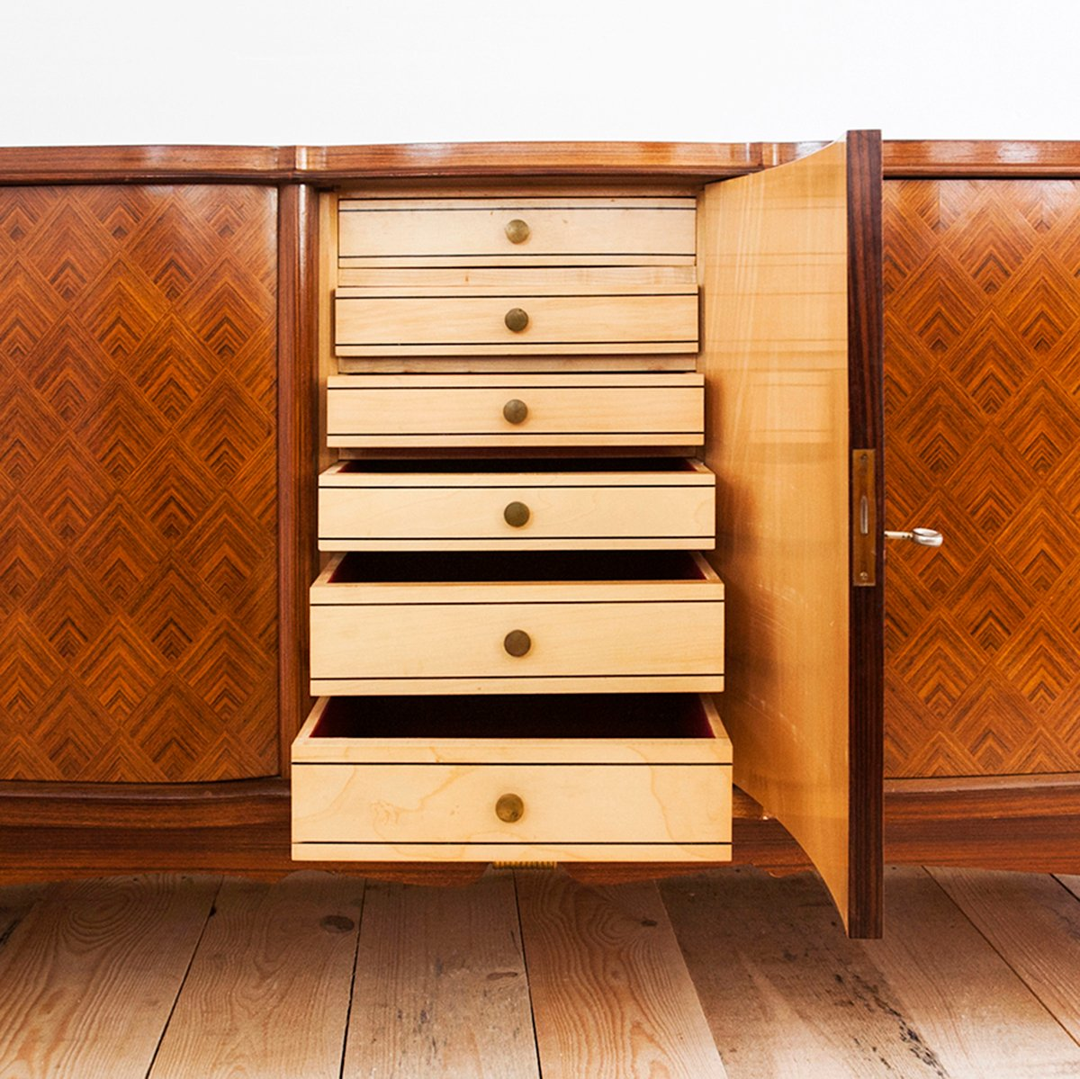 art deco sideboard from maison jules leleu for sale at pamono. Black Bedroom Furniture Sets. Home Design Ideas
