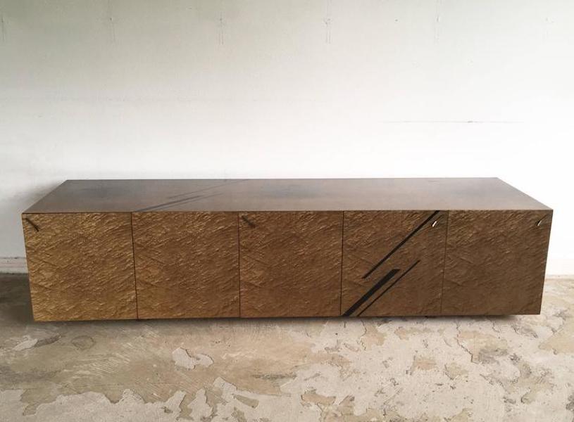Vintage Sideboard aus Vogelaugenahorn Furnier von Giovanni Offredi für...