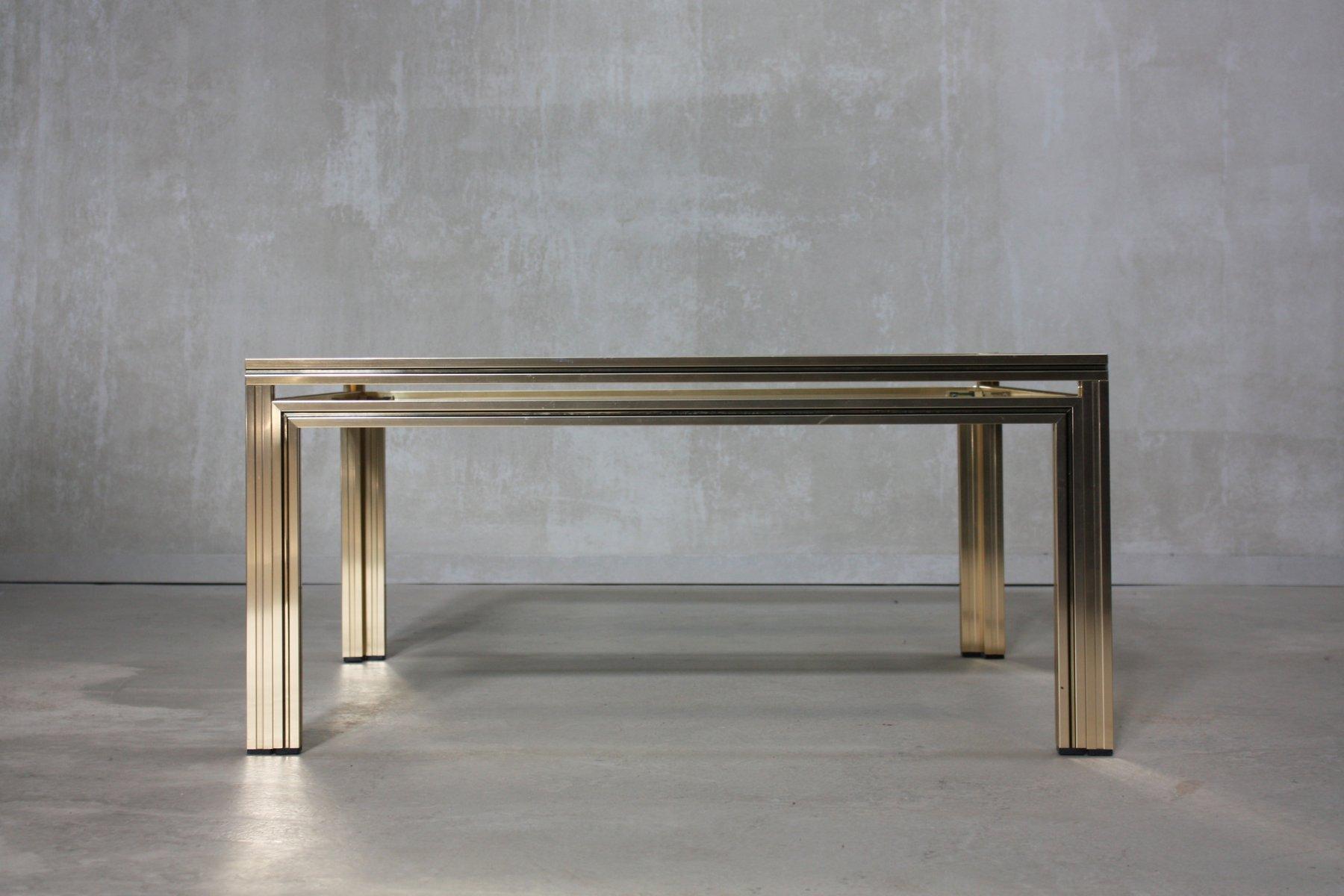 table basse dor e carr e par pierre vandel france 1970s en vente sur pamono. Black Bedroom Furniture Sets. Home Design Ideas