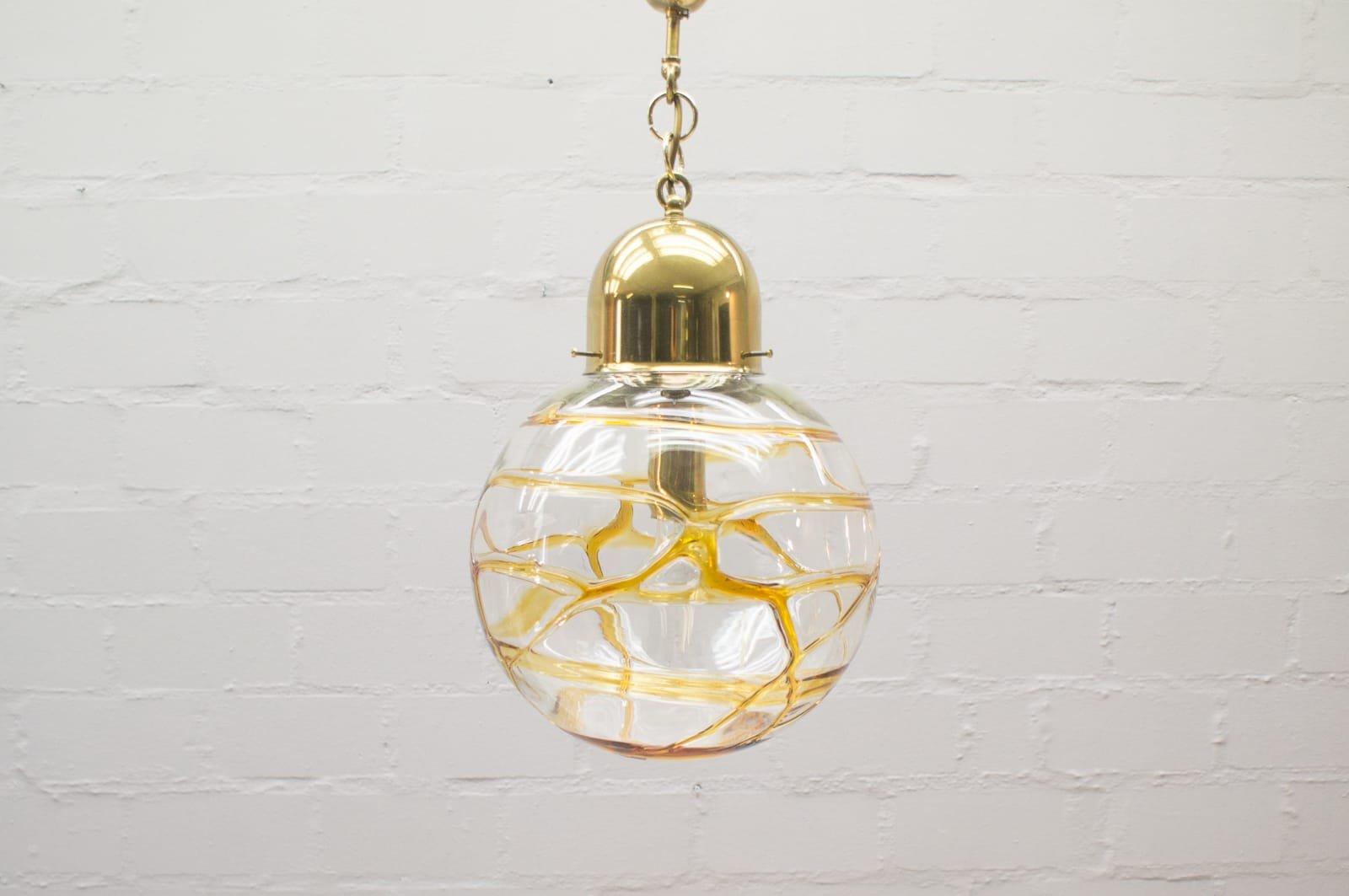 Vintage Murano Glaskugel Lampe, 1960er