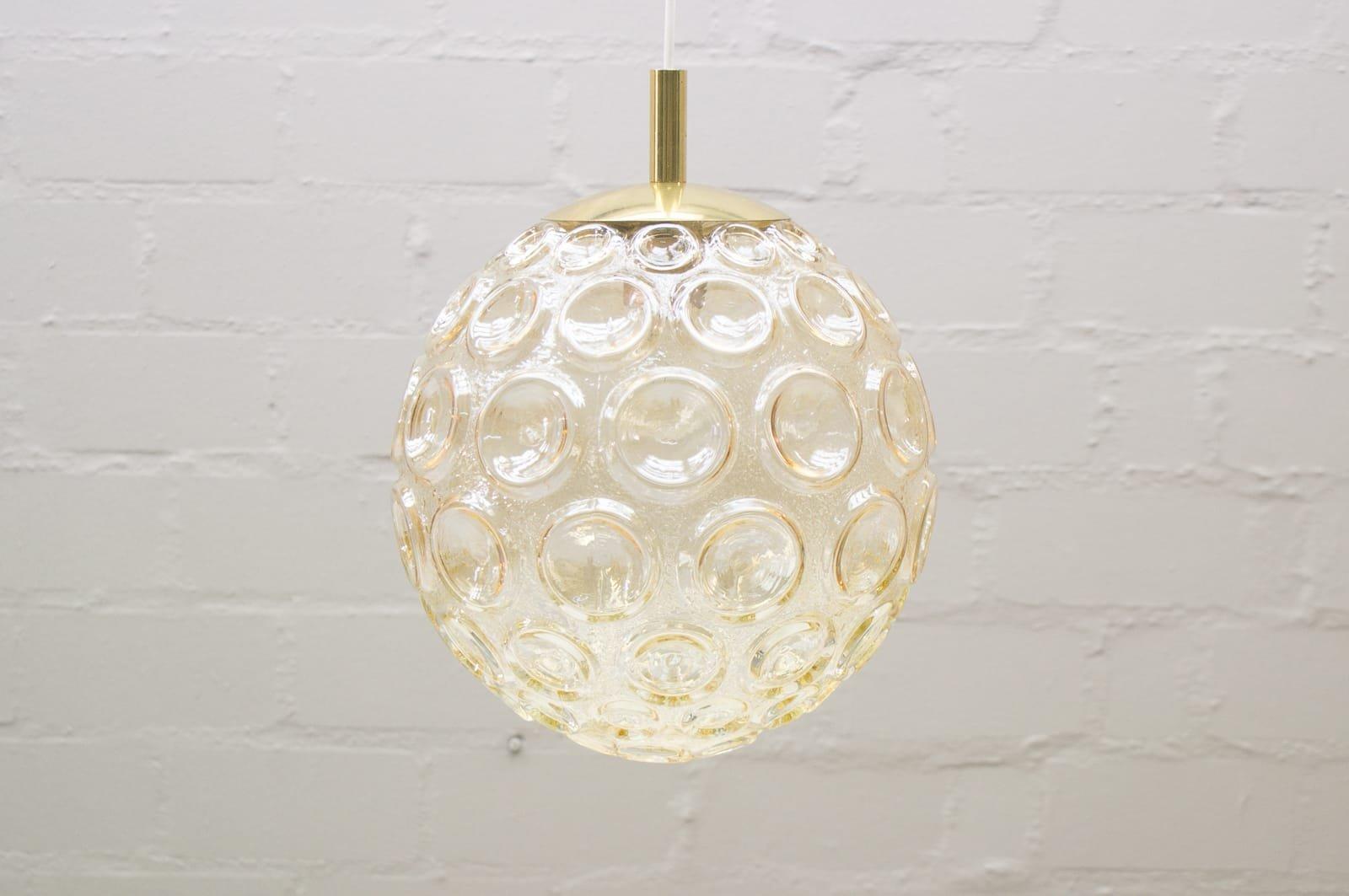 Große Bubble Glas Hängelampe, 1960er, 2er Set