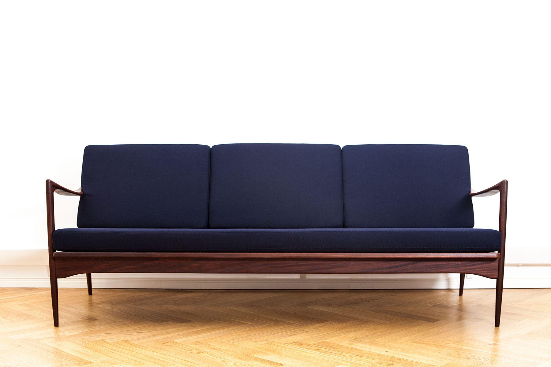 kandidaten sofa aus afromosia wolle von ib kofod larsen f r ope 1950er bei pamono kaufen. Black Bedroom Furniture Sets. Home Design Ideas