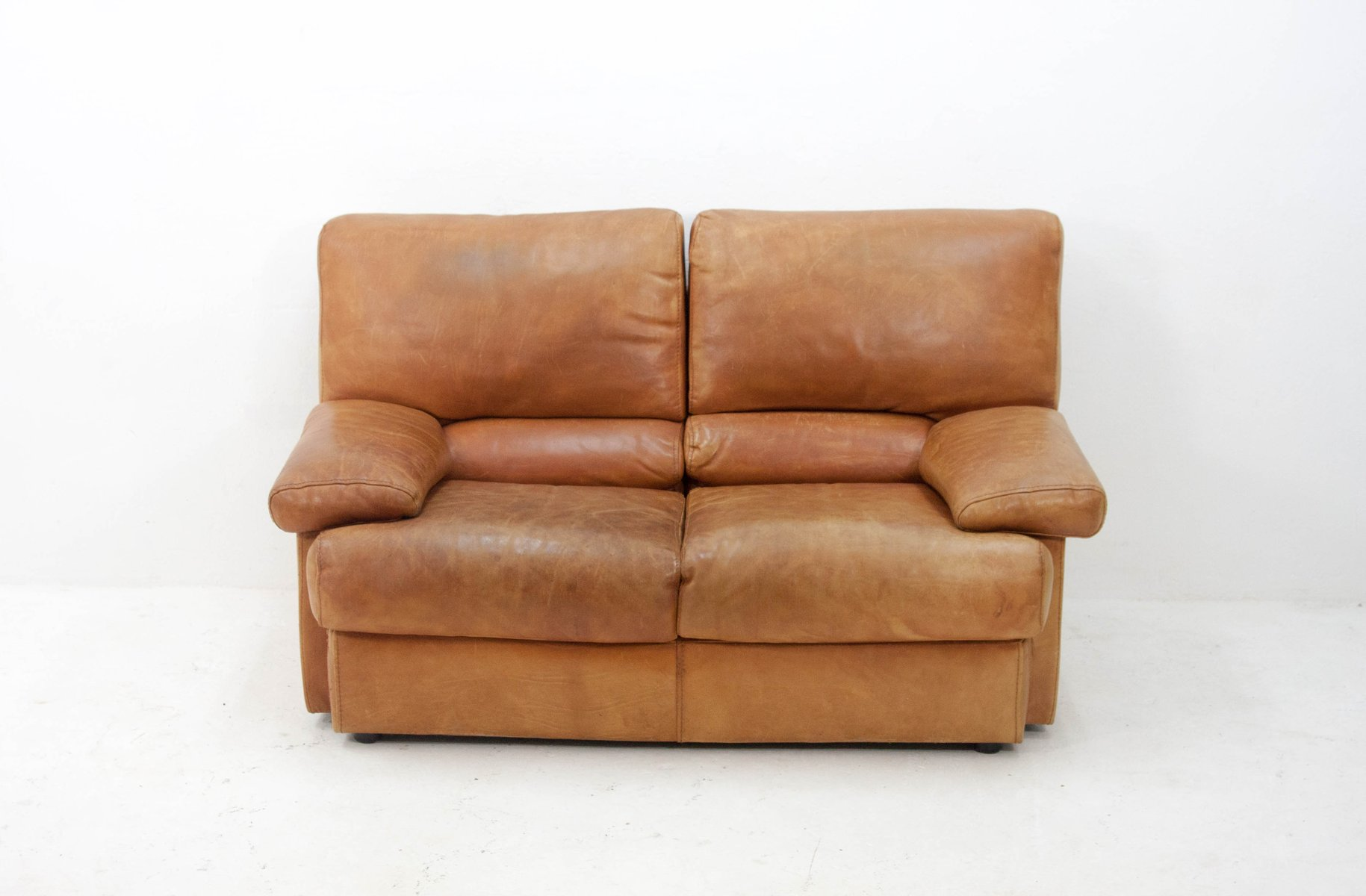 Vintage 2-Seater Butterscotch Leather Sofa from Cierre Imbottiti for ...