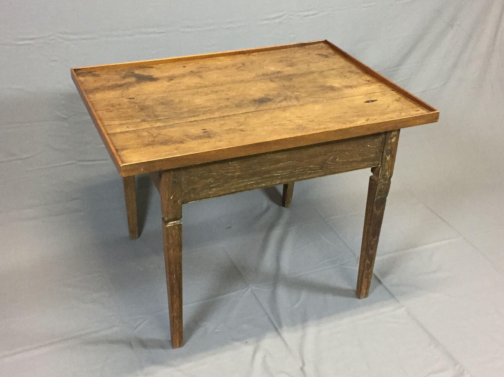 table basse antique en merisier en vente sur pamono. Black Bedroom Furniture Sets. Home Design Ideas