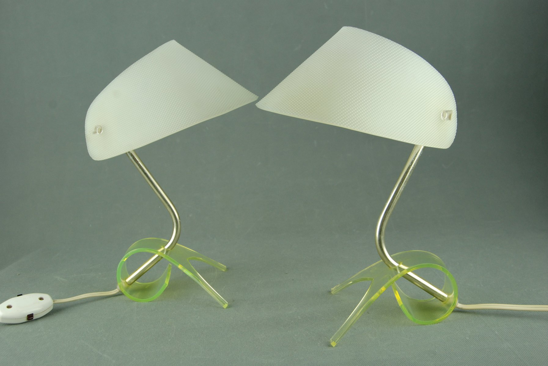 Mid-Century Tischlampen von Apolinary Galecki, 1960er, 2er Set