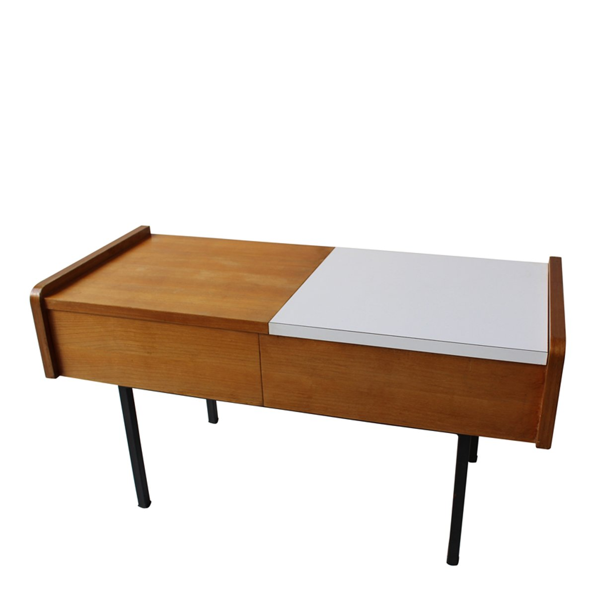 table console avec rangement france 1950s en vente sur. Black Bedroom Furniture Sets. Home Design Ideas