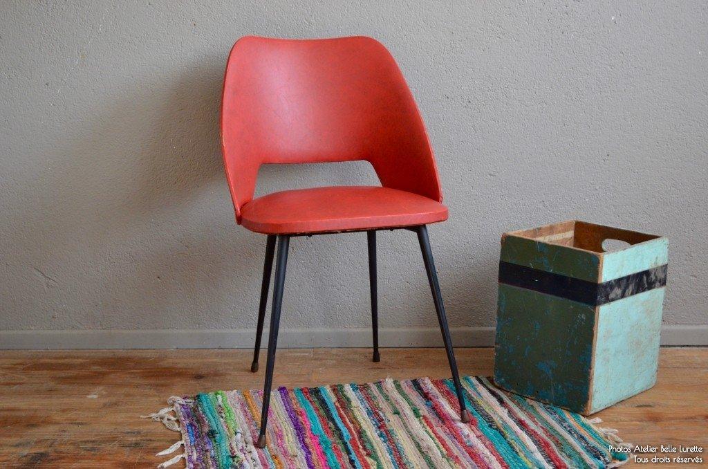 Sedia rossa e nera anni 39 50 in vendita su pamono for Sedia anni 50 design