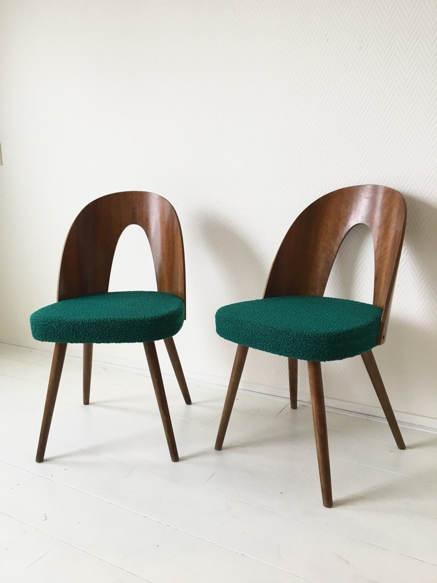 Green Dining Room Chairs By Antonin Suman For Tatra 1960s Set Of 6