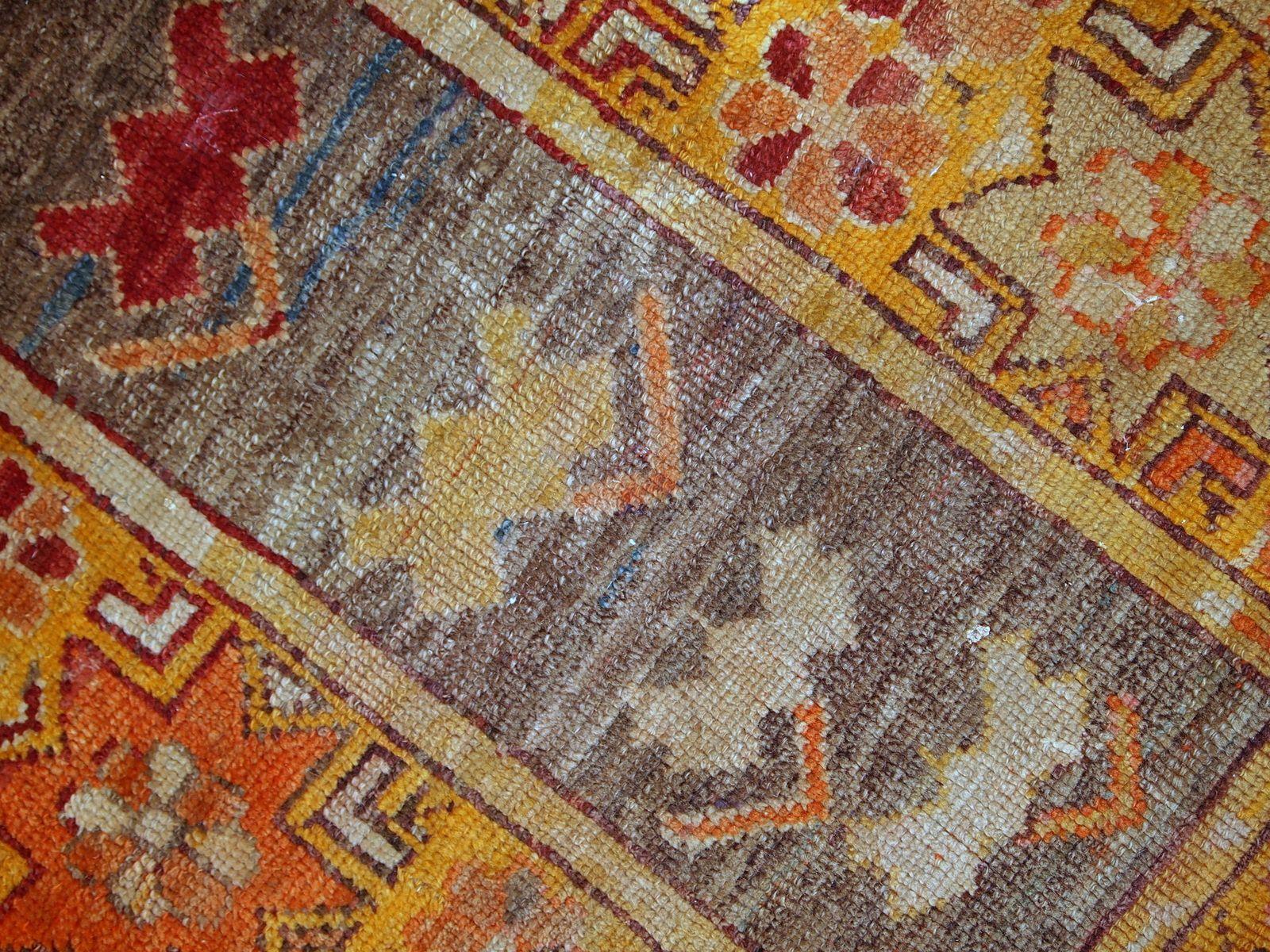 tapis antique anatolien fait la main turquie 1920s en vente sur pamono. Black Bedroom Furniture Sets. Home Design Ideas