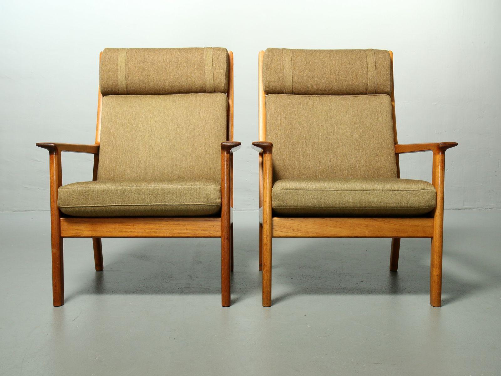 65A Teak Sessel mit Hoher Rückenlehne von Hans J. Wegner für Getama, 1...