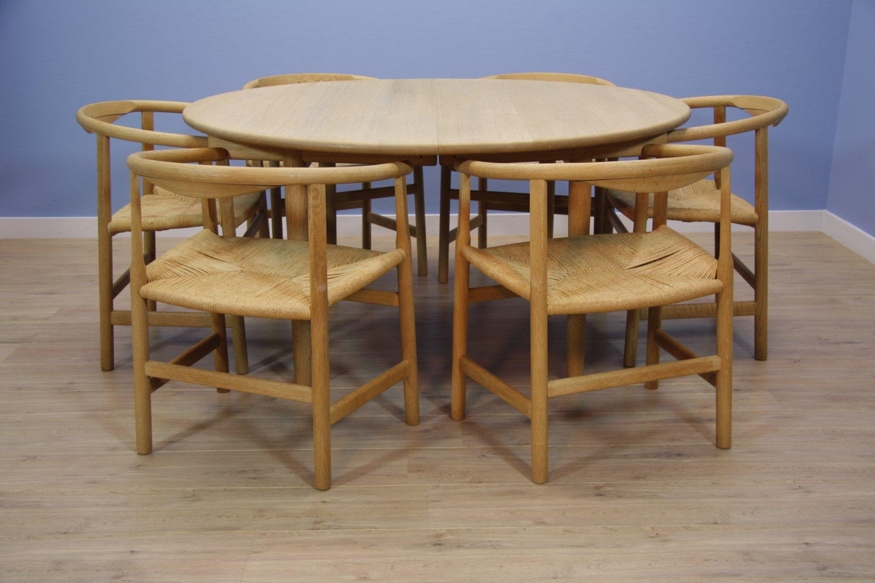 Table de salle manger ch 337 mid century avec chaises pp - Table de salle a manger avec chaises ...