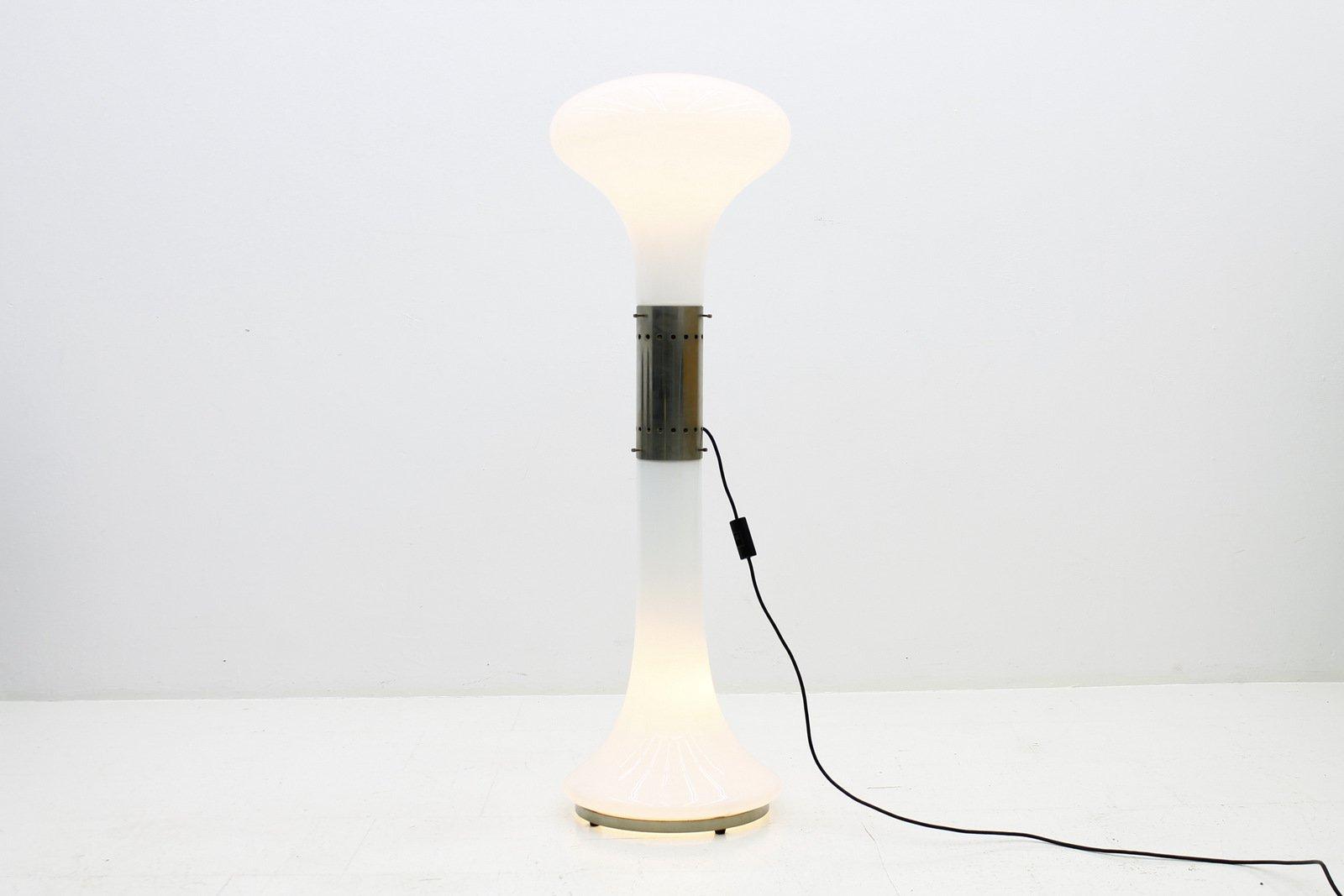 Große Stehlampe aus Glas von Carlo Nason für Mazzega, 1960er