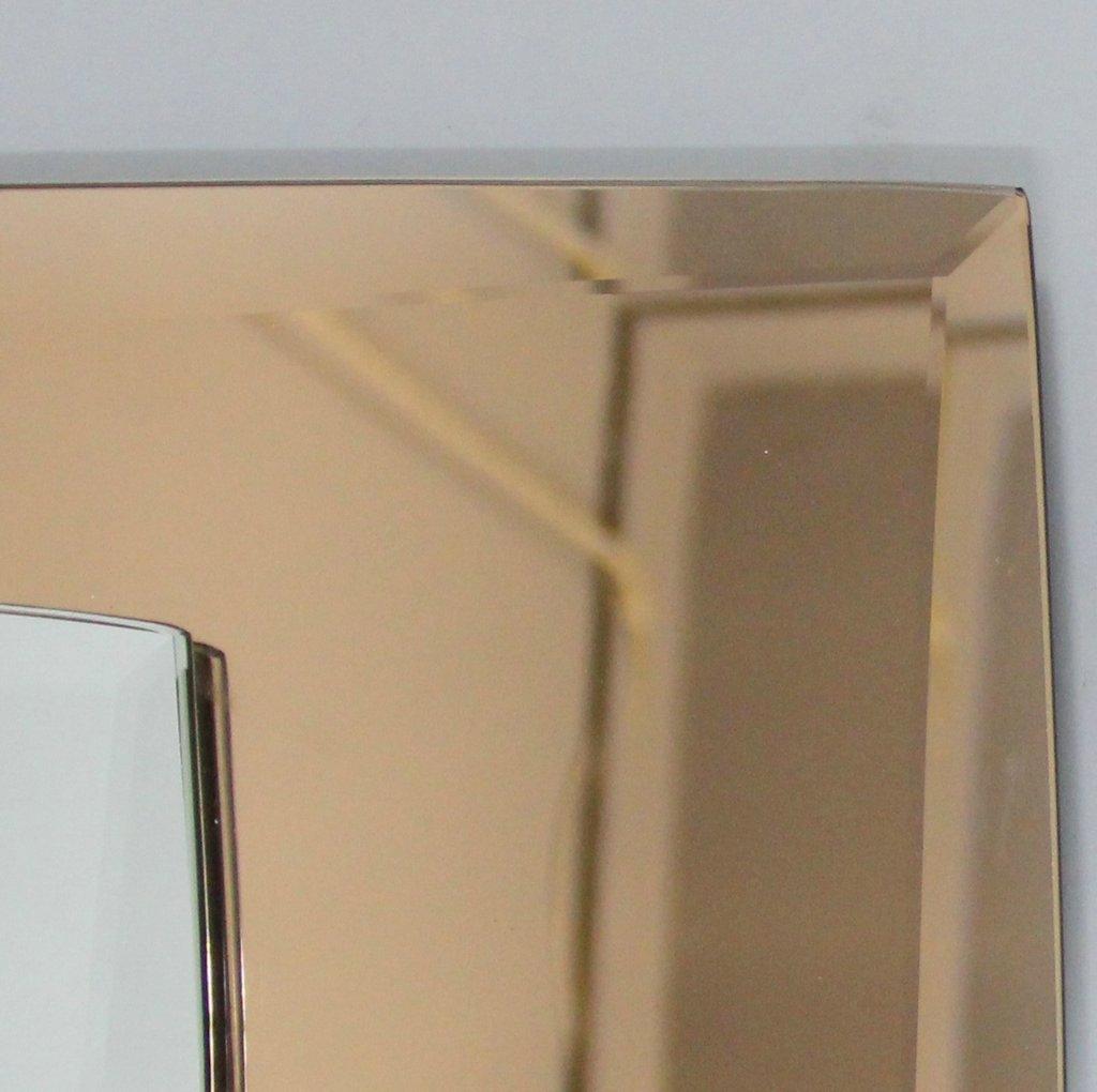italienischer vintage spiegel mit lampen von veca bei pamono kaufen. Black Bedroom Furniture Sets. Home Design Ideas