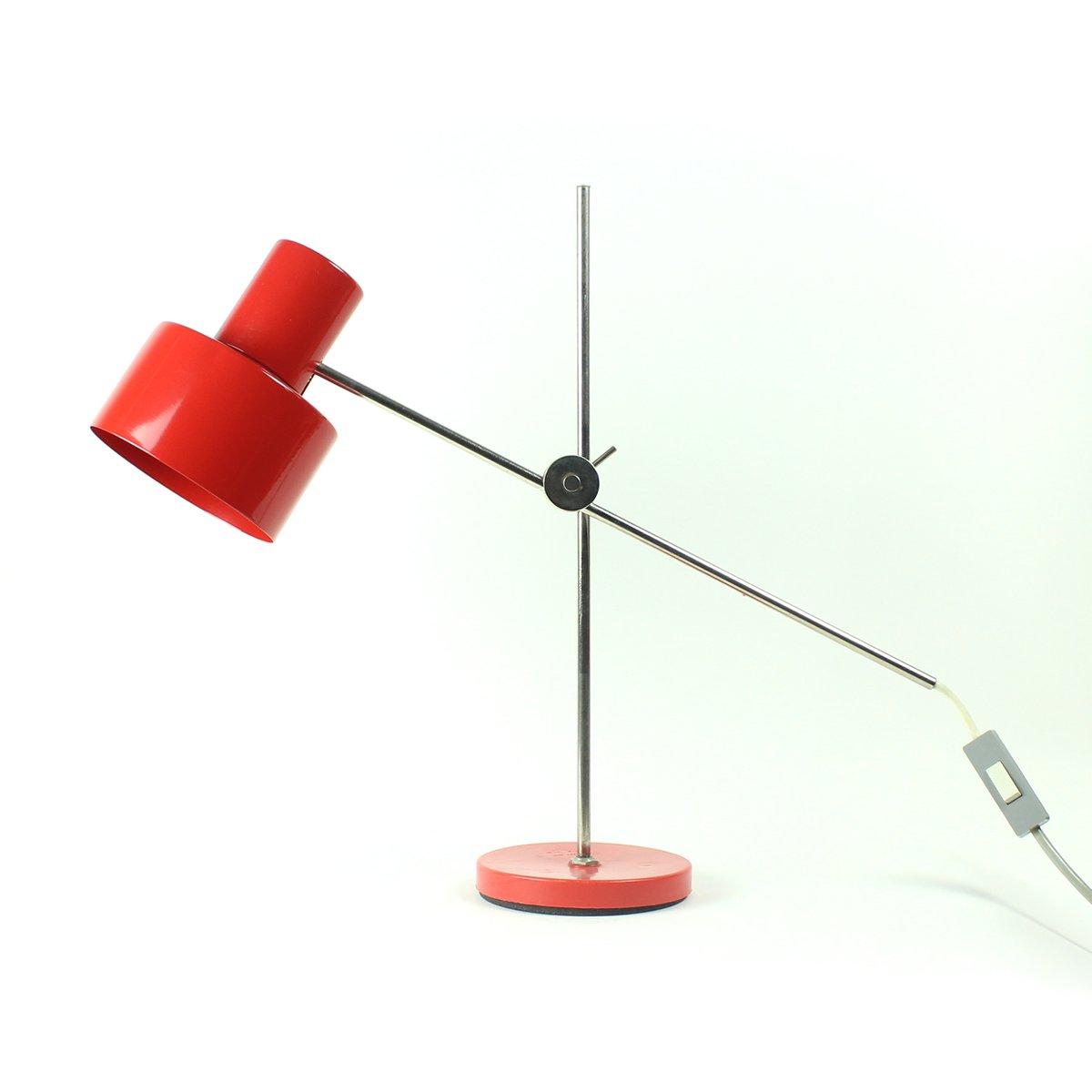 lampe de bureau rouge tch coslovaque par jan suchan pour elektrosvit 1967 en vente sur pamono. Black Bedroom Furniture Sets. Home Design Ideas