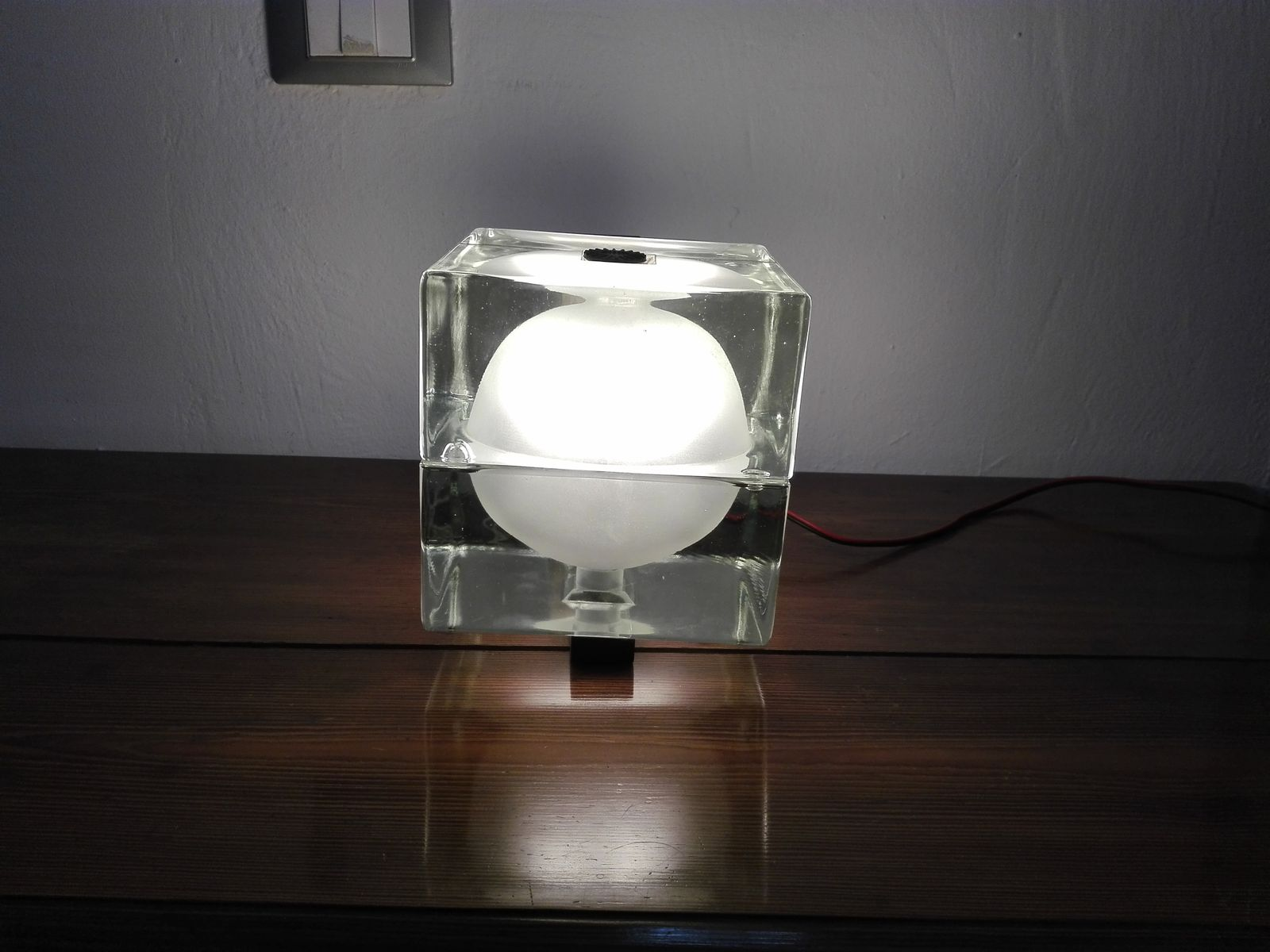 Applique cubosfera vintage in vetro di alessandro mendini