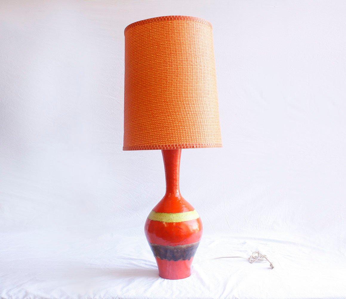 Keramik Tischlampe, 1950er
