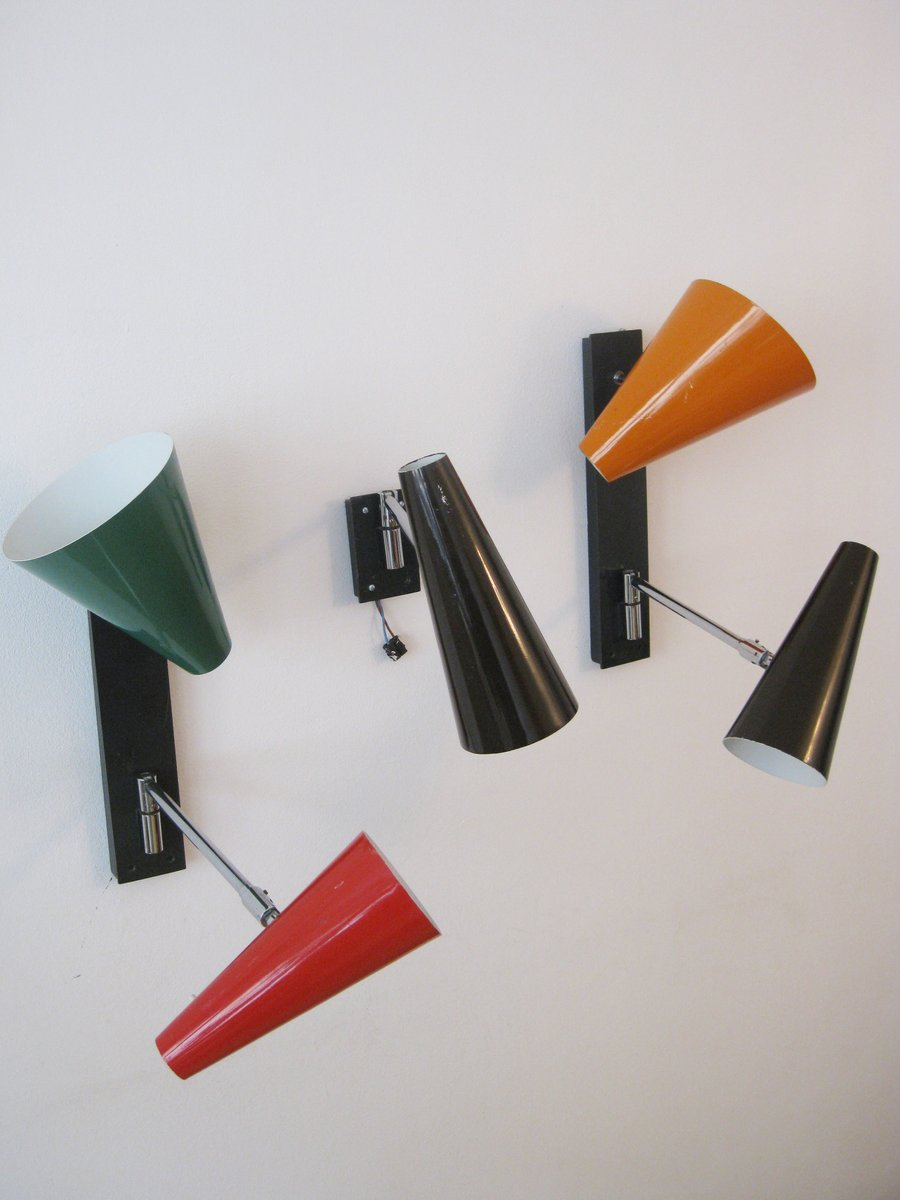 Mid-Century Modern Wandlampen, 1970er, 3er Set