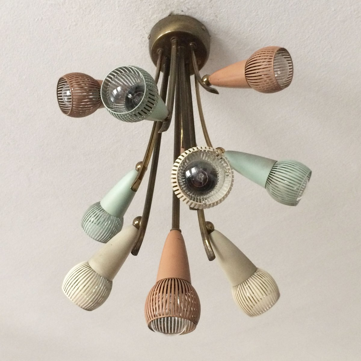 Mid-Century Modern Sputnik Atomic Deckenlampe, 1950er