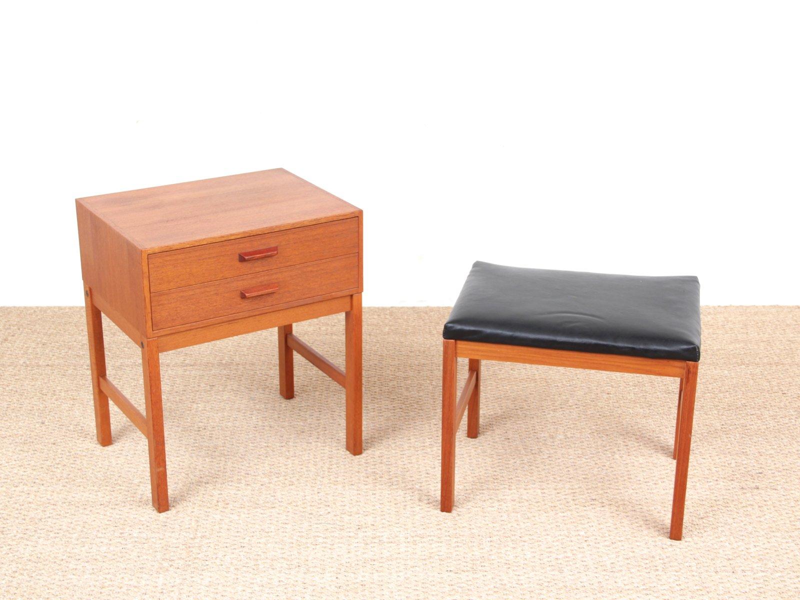 Mid Century Modern Scandinavian Hall Furniture In Teak, 1960s, Set Of 2