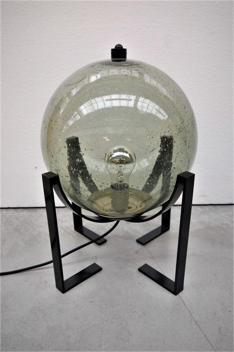Vintage Lampe mit Glaskugel