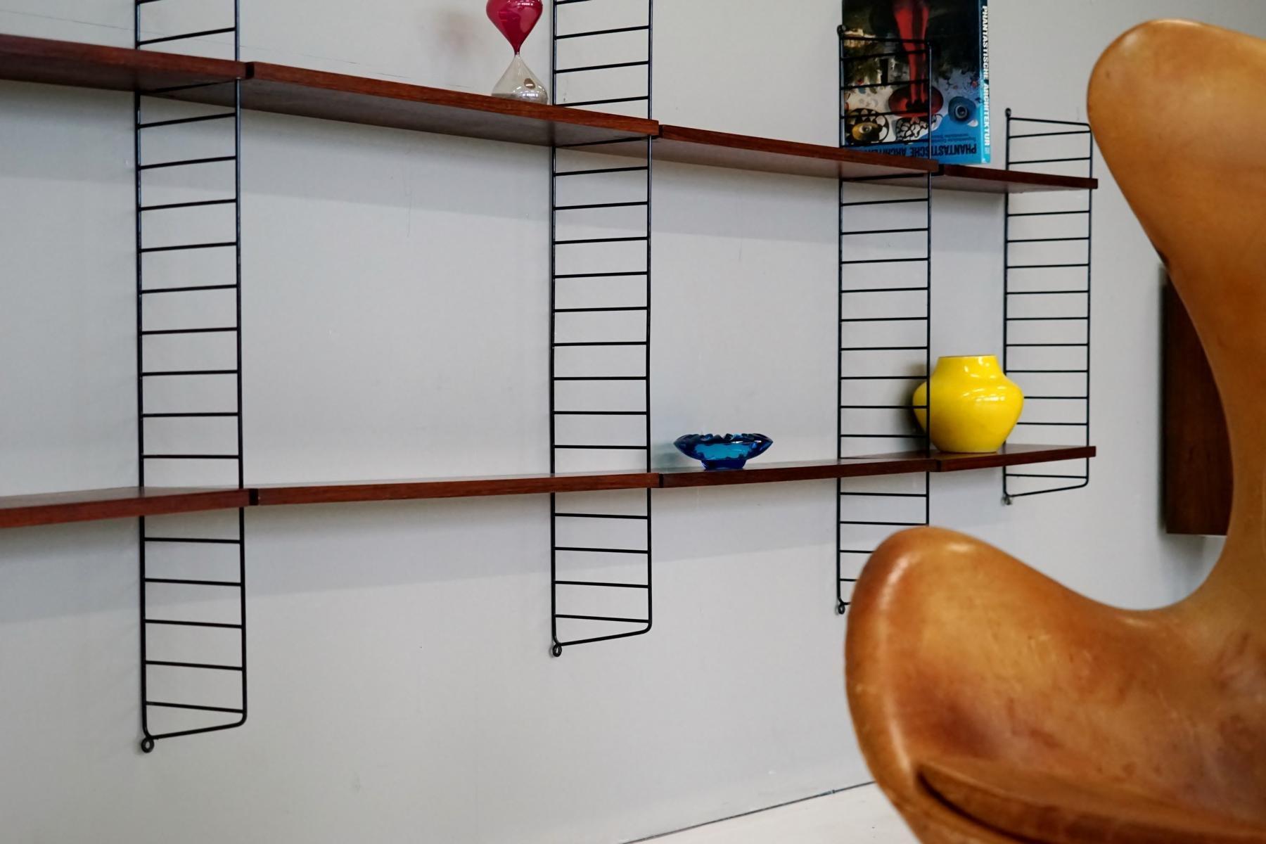 vintage string regal von nisse strinning f r string. Black Bedroom Furniture Sets. Home Design Ideas