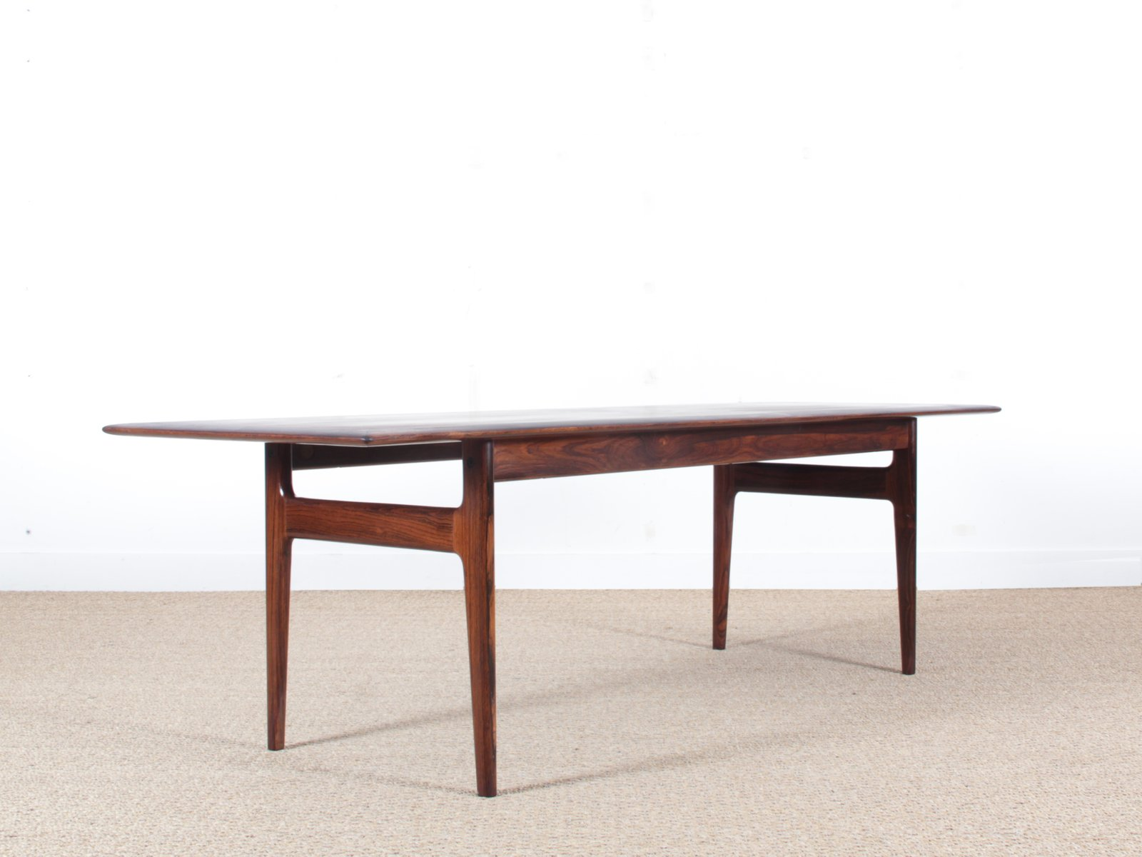 Mid Century Modern Scandinavian Coffee Table In Rio Rosewood From CFC  Silkeborg, 1960s