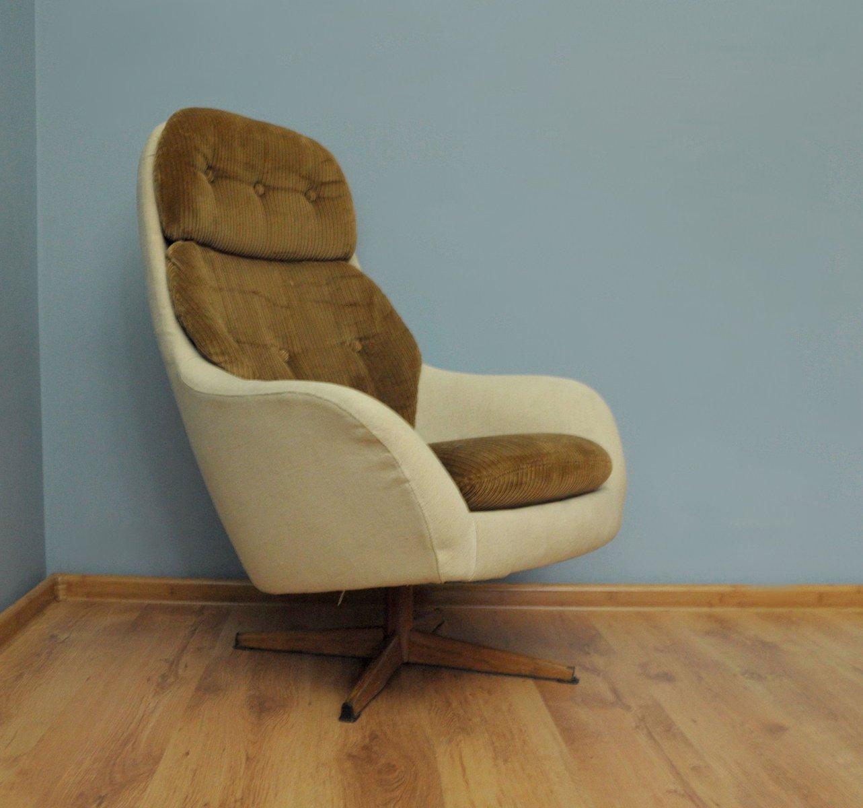 d nischer vintage sessel in beige und braun 1960er bei pamono kaufen. Black Bedroom Furniture Sets. Home Design Ideas