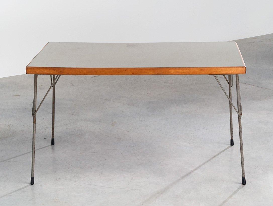 table de salle manger 3705 industrielle par wim rietveld pour gispen en vente sur pamono. Black Bedroom Furniture Sets. Home Design Ideas