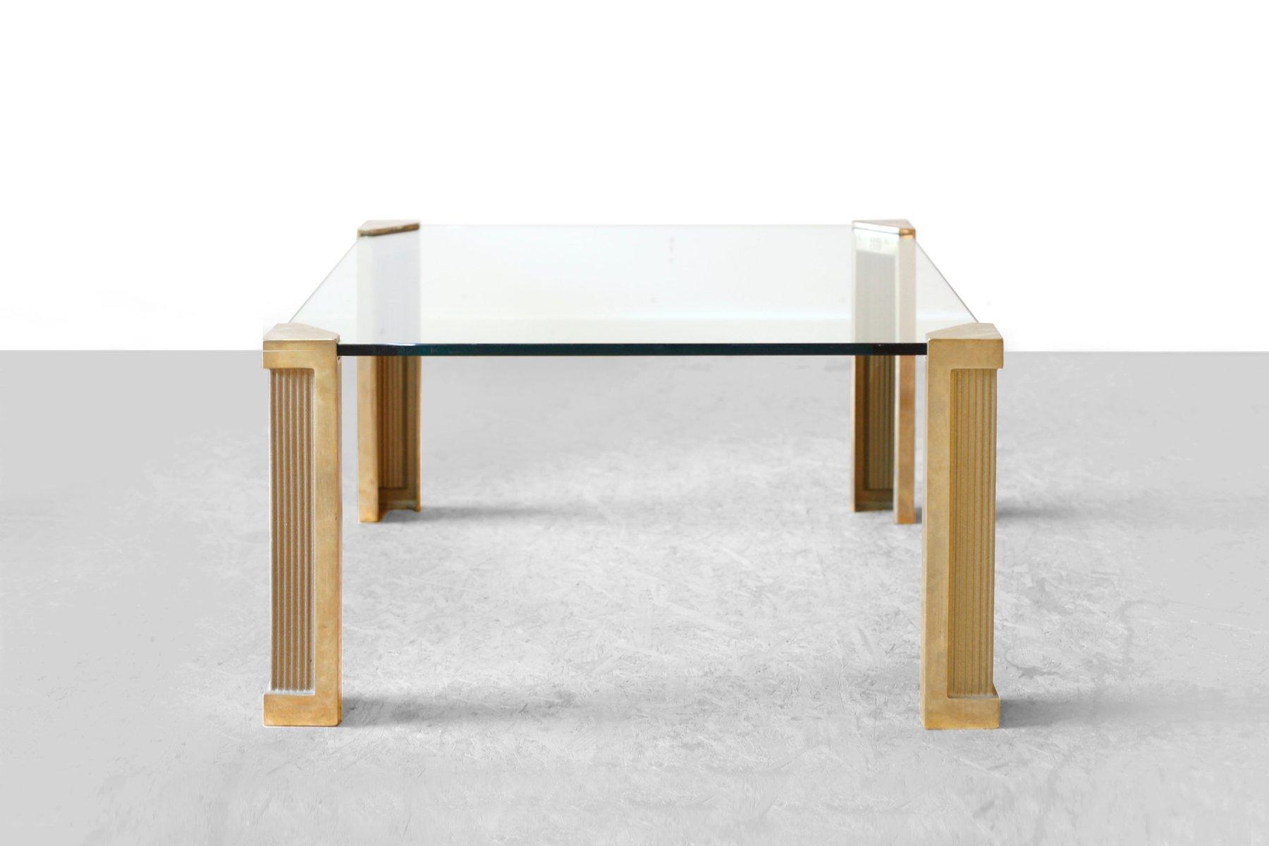 messing glas couchtisch von peter ghyczy 1970er bei pamono kaufen. Black Bedroom Furniture Sets. Home Design Ideas