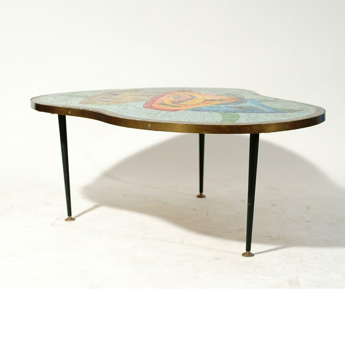 table basse avec plateau en mosa que 1960s en vente sur pamono. Black Bedroom Furniture Sets. Home Design Ideas