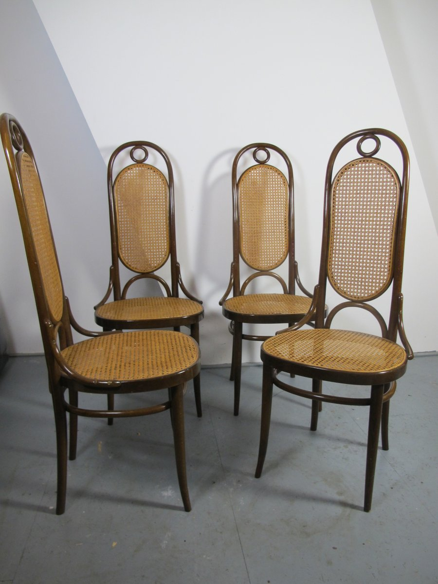 Antike bugholz nr 17 esszimmerst hle von thonet 4er set for Thonet esszimmerstuhle