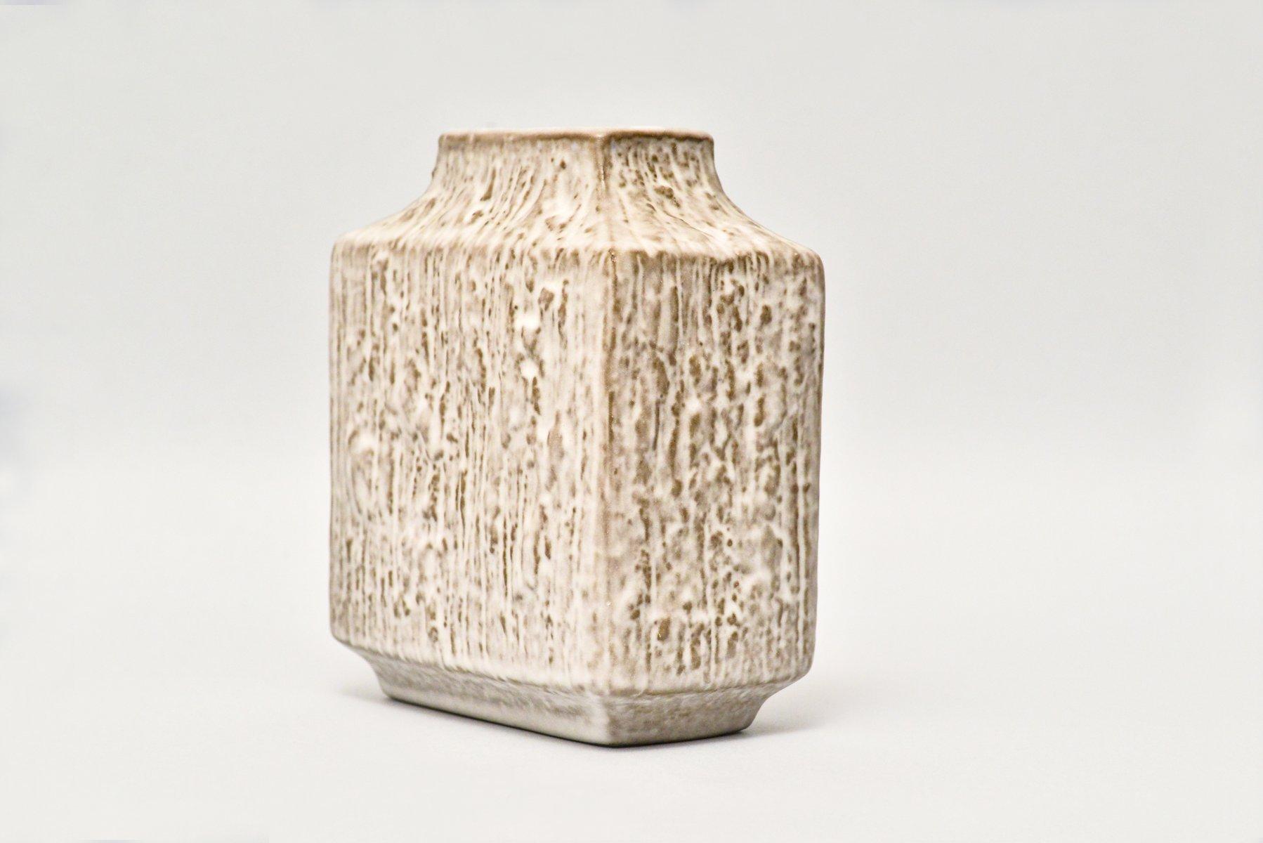 rechteckige vintage relief vase von friedegard glatzle f r karlsruhe bei pamono kaufen. Black Bedroom Furniture Sets. Home Design Ideas