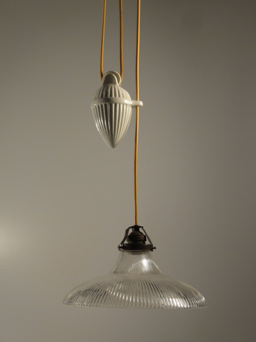 Porcelain pendant light with glass shade 1900s for sale at pamono porcelain pendant light with glass shade 1900s aloadofball Choice Image